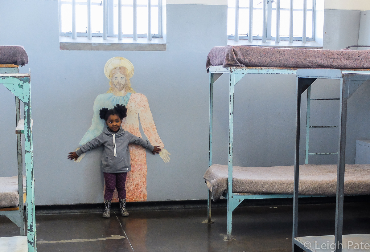 Girl in Robben Island Prison, Cape Town South Africa
