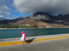Girl in Pink, South Africa, Cape of Good Hope