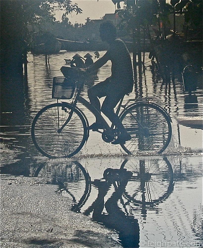 cycling through flood bikecraft