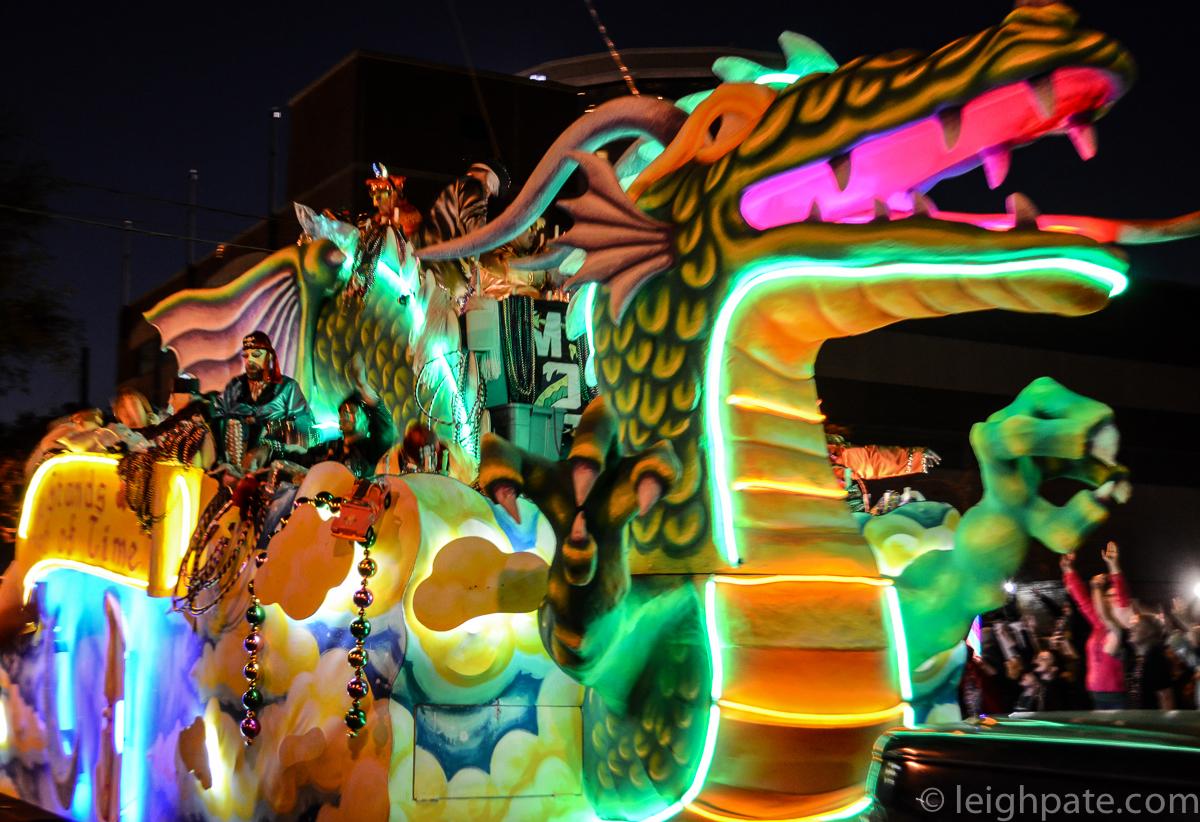 Dragon Float, Mobile Mardi Gras, 2015