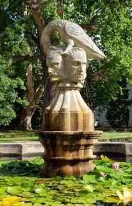 Raven with Saracen Heads- the Rosenberg Ducal emblem